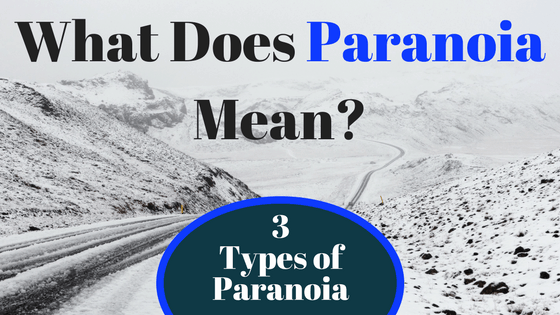 3 Types of Paranoia: What does paranoia mean?